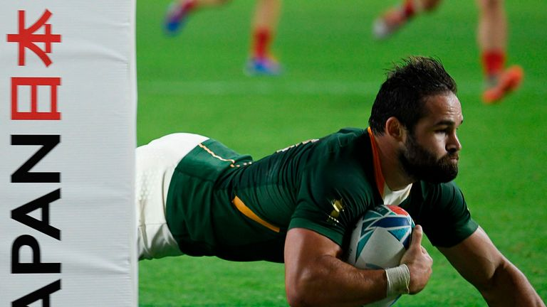 Reinach's treble was the quickest in Rugby World Cup history