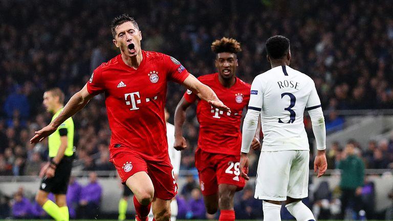 Robert Lewandowski gave Bayern Munich the lead at Tottenham