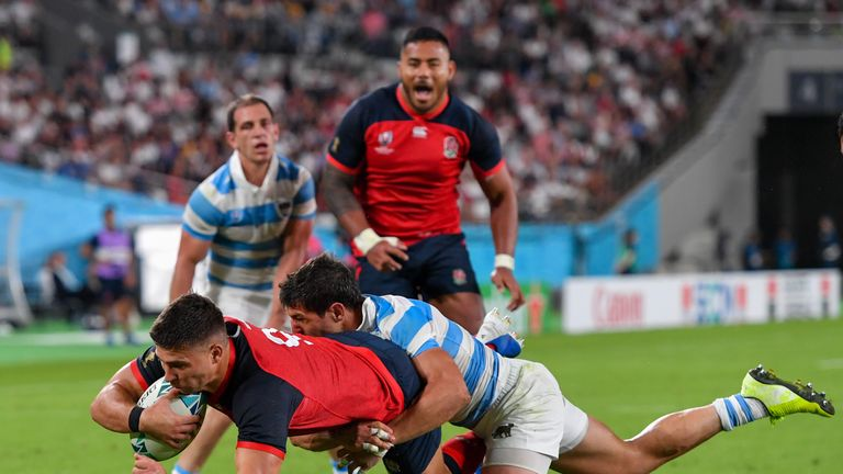Youngs scored a try in England's 39-10 win over Argentina