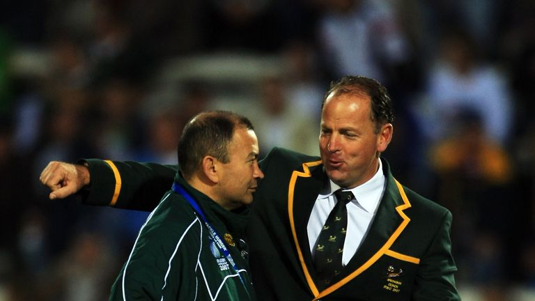 Eddie Jones was part of Jake White's backroom team with South Africa when they won the 2007 Rugby World Cup