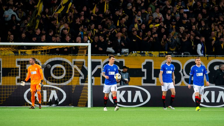 Rangers were beaten by Young Boys late on in their previous Europa League outing