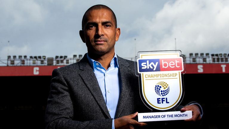 Nottingham Forest boss Sabri Lamouchi won the Sky Bet Championship Manager of the Month award for September