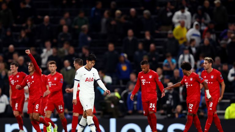 Spurs were beaten 7-2 at home by Bayern in October