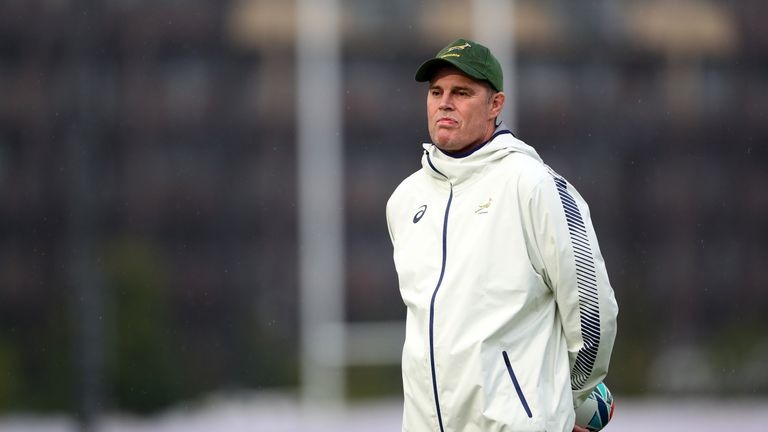Springbok director of rugby Rassie Erasmus feels there is enough cover at 10 with Handre Pollard out