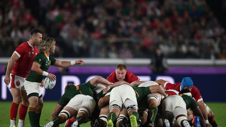 South Africa's scrum is an area of strength for the Springboks