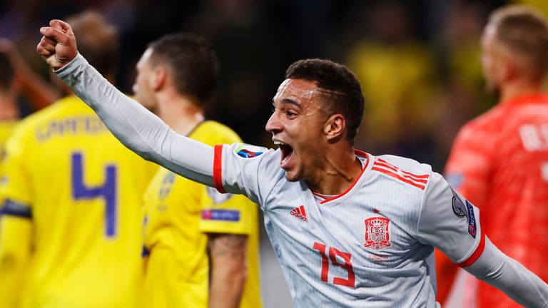 Rodrigo's late equaliser secured Spain's place at Euro 2020
