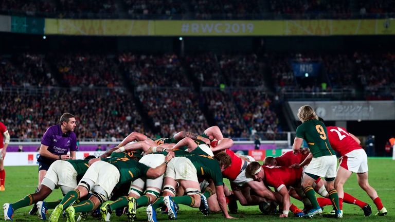 The Springboks have excelled at the scrum, where England have experienced joy too
