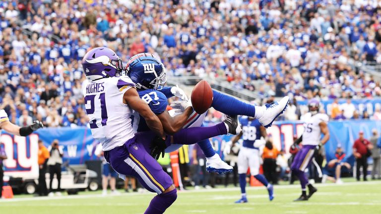 Shepard was injured in Sunday's defeat to the Minnesota Vikings