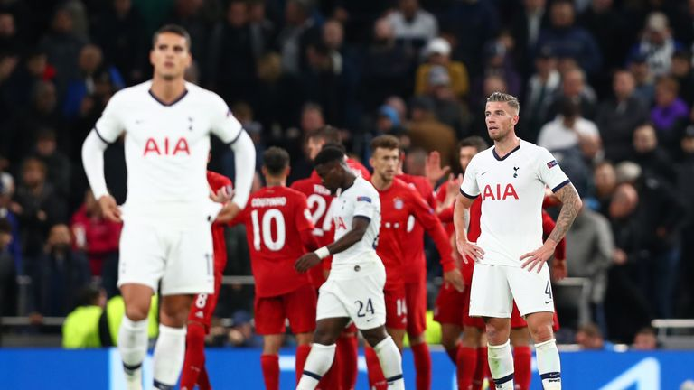 It is the first time Tottenham have conceded seven at home in any competition