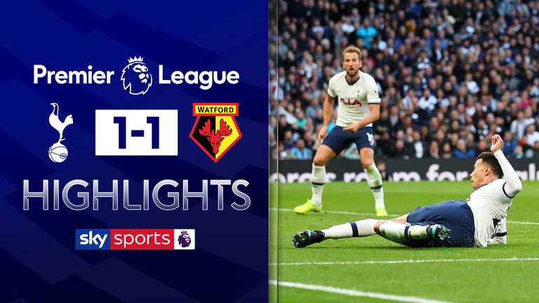 FREE TO WATCH: Highlights from Tottenham's draw against Watford