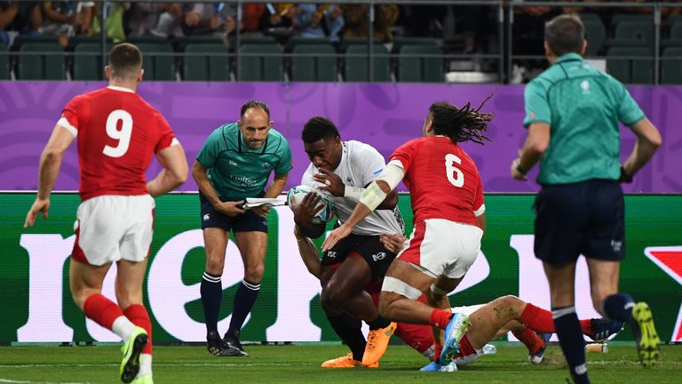 Fiji wing Josua Tuisova finished sensationally in the corner in the early stages