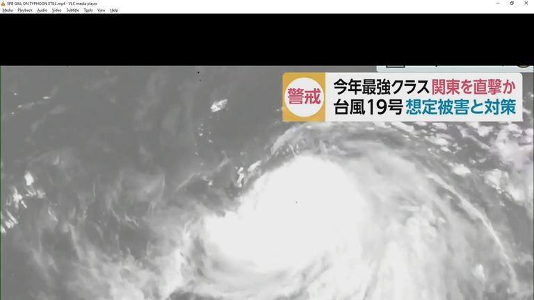Sky Sports' Gail Davis reports from Tokyo on preparations for Typhoon Hagibis which could impact both England and Scotland's Rugby World Cup games on Saturday.