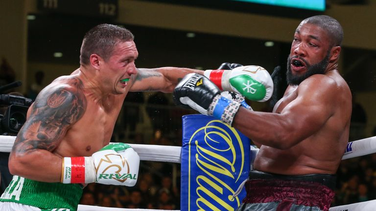 Usyk won his heavyweight debut and is mandatory challenger to the WBO title