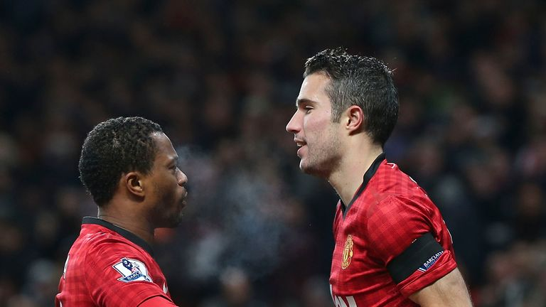 Evra told Robin van Persie he had joined a 'man's club' following his move to Manchester United from Arsenal