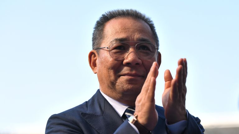 Vichai Srivaddhanaprabha died in a helicopter crash in 2018