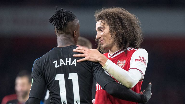 The two players made up after the incident as high-flying Palace fought back from two goals down with the help of VAR