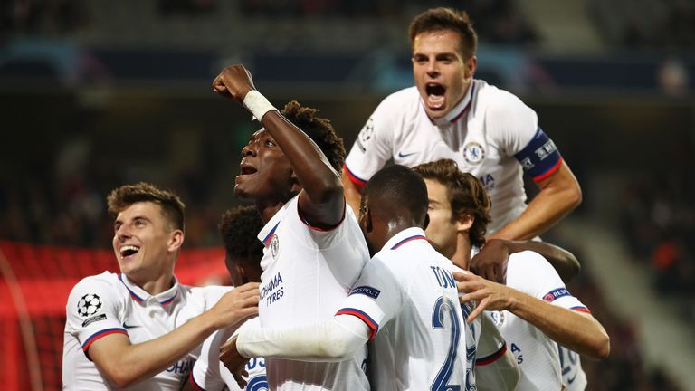 Chelsea beat Lille 2-1 in the Champions League in October