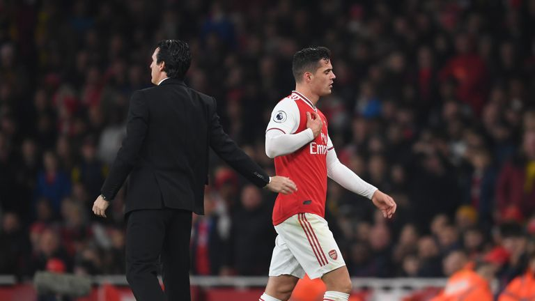 Xhaka returned to training on Thursday after missing the Liverpool tie