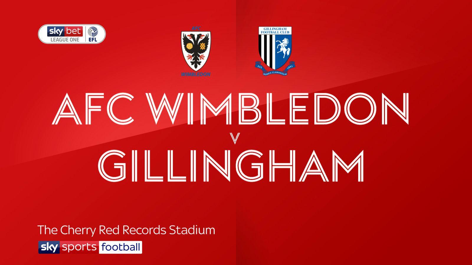AFC Wimbledon 1-0 Gillingham: Scott Wagstaff scores winner at Kingsmeadow