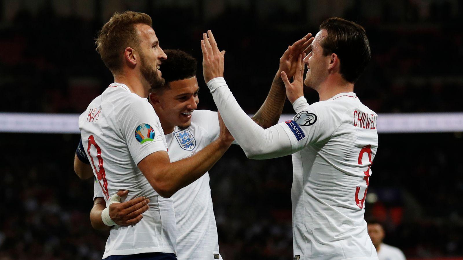 England Montenegro: Hosts win 1,000th international to book Euro...