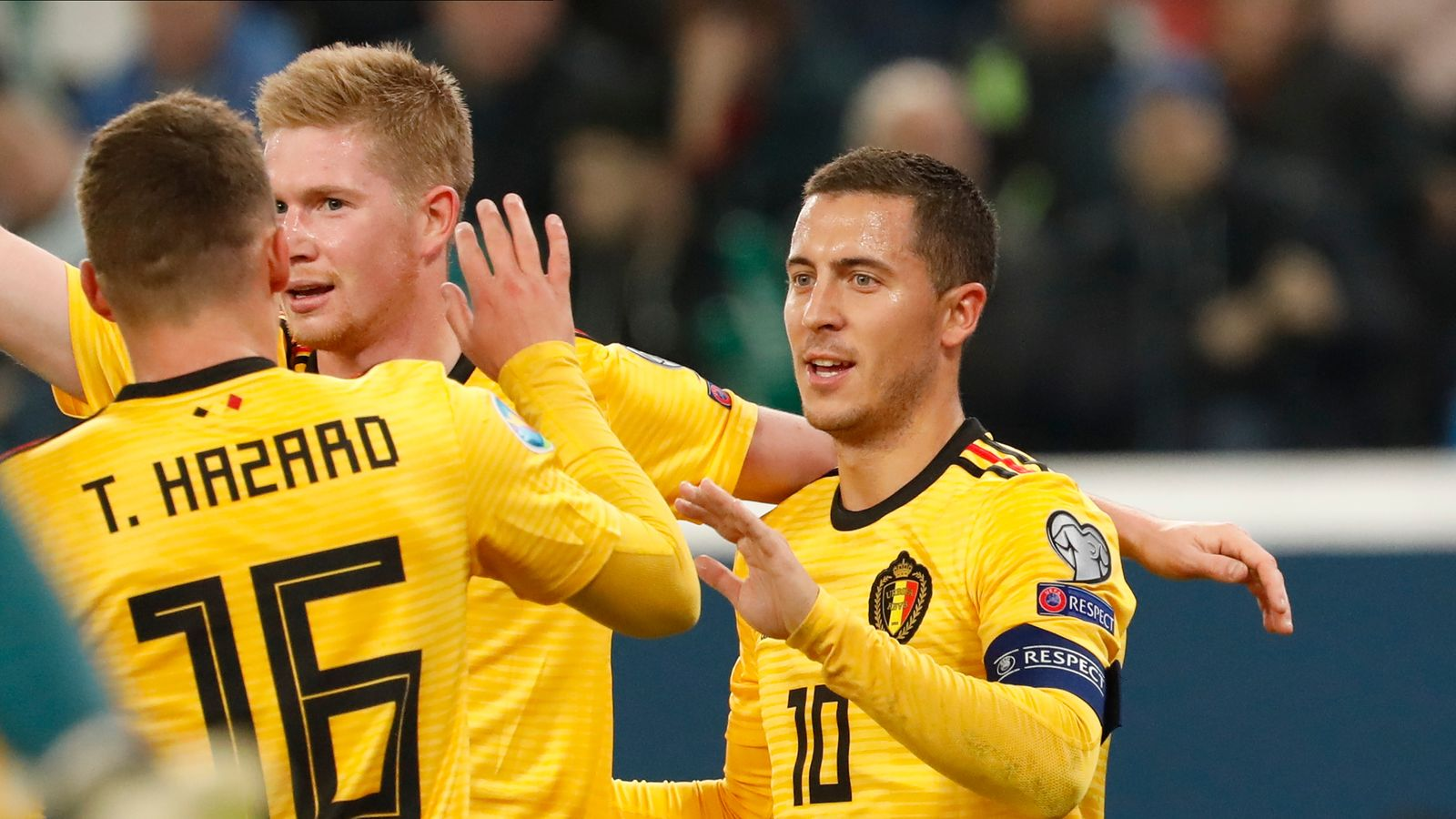Euro Qualifiers: Belgium secure Group I top spot