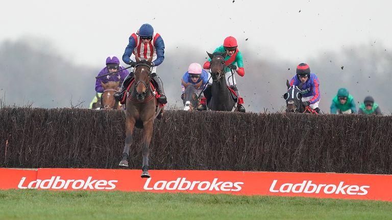 Ben Jones riding De Rasher Counter to victory at Newbury