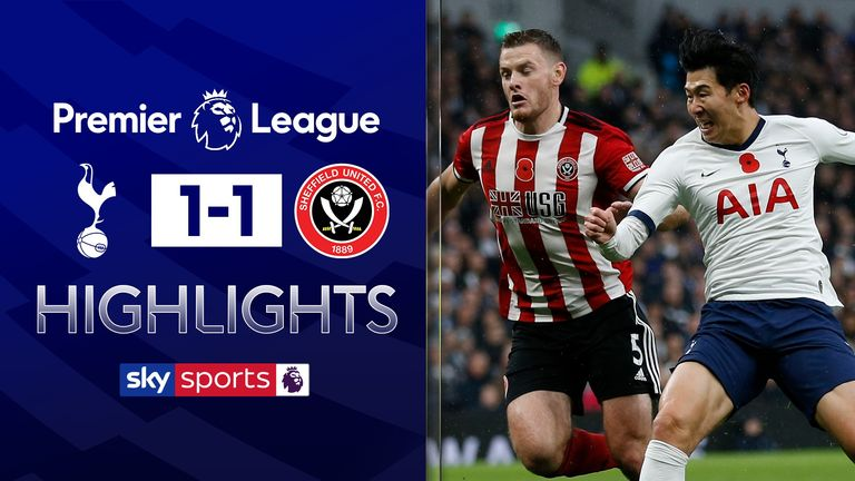 FREE TO WATCH: Highlights from Tottenham's 1-1 draw with Sheffield United in the Premier League