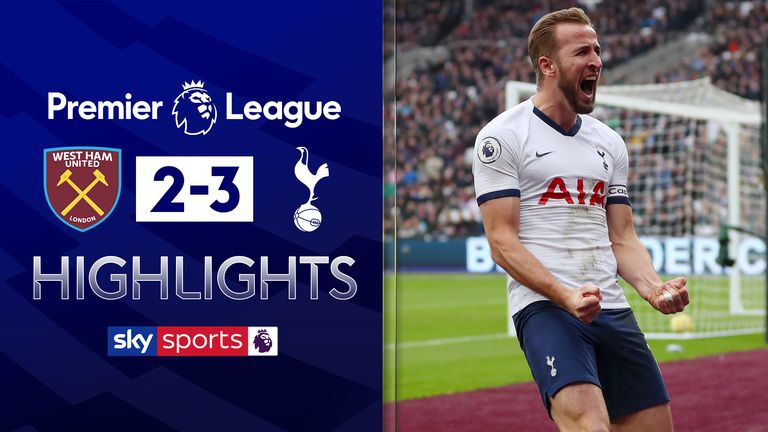 FREE TO WATCH: Highlights from Tottenham's win at West Ham in the Premier League