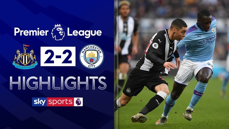 FREE TO WATCH: Highlights from the 2-2 draw between Newcastle and Manchester City in the Premier League