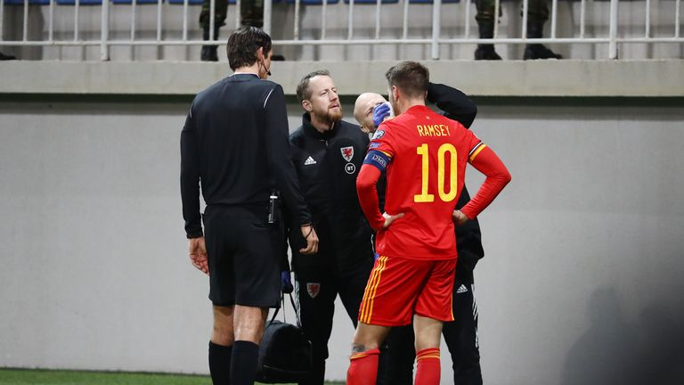 Ramsey replaced Gareth Bale in Saturday's victory over Azerbaijan