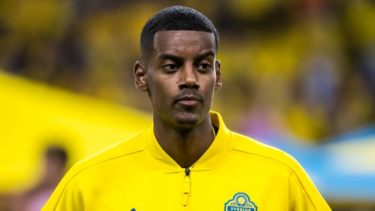 Isak was the target of abuse during Sweden's win over Romania