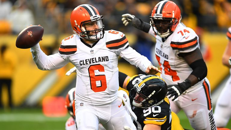 The Browns have not beaten the Steelers in their last eight tries
