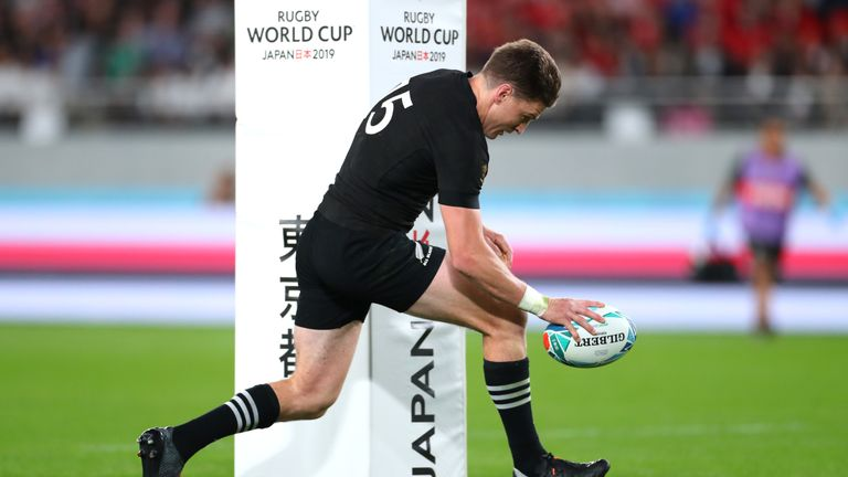 Beauden Barrett cut a super line to stroll over for the All Blacks' second