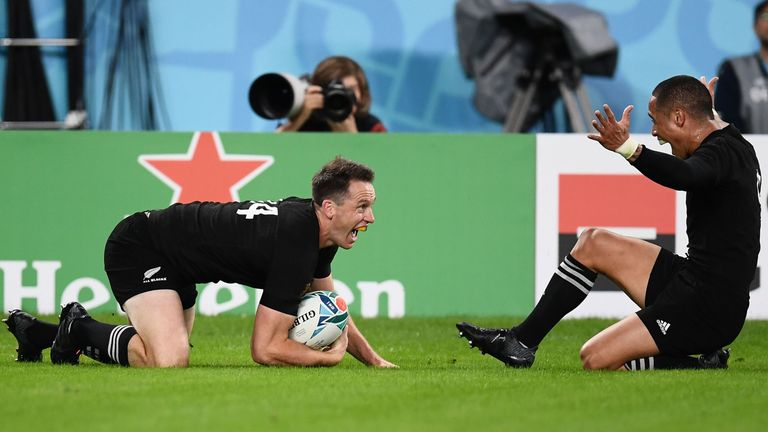 Smith combined with scrum-half Aaron Smith for a fourth New Zealand try in the first half's dying stages