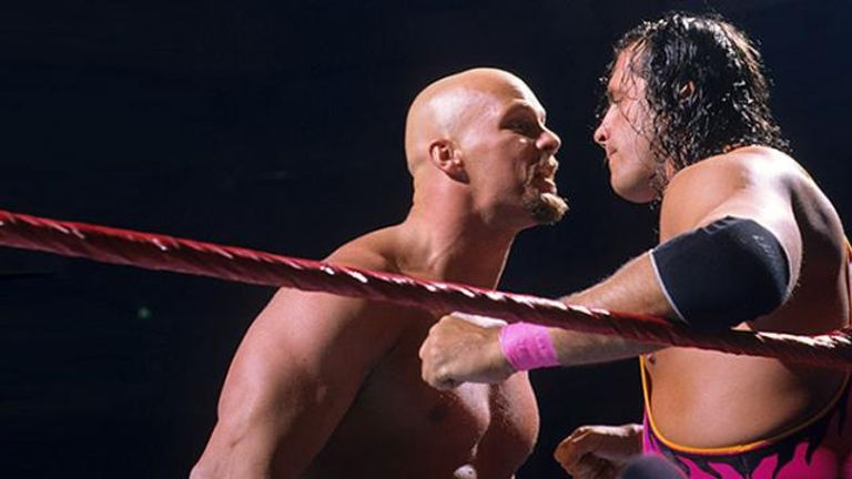 Bret Hart and Steve Austin had many classic matches in the mid-1990s - and one of them was at Survivor Series in 1996