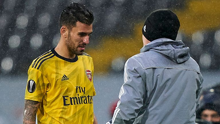 Ceballos injured his hamstring in Arsenal's match with Vitoria SC