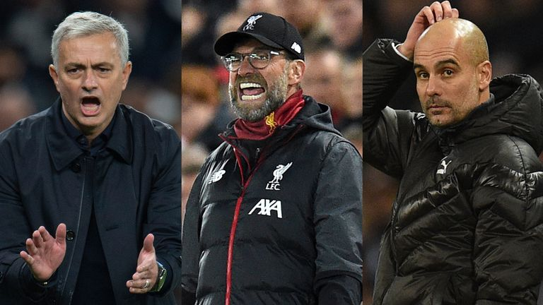 Jose Mourinho' Tottenham, Jurgen Klopp's Liverpool and Pep Guardiola's Manchester City will all feature live on Sky Sports during the Festive Season