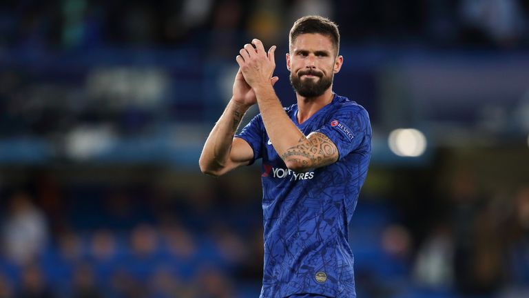 Olivier Giroud looks set to leave Chelsea for pastures new