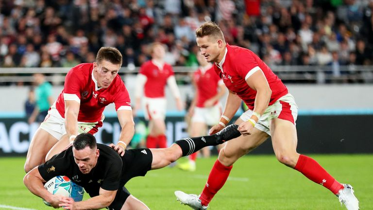 Ryan Crotty finished an exceptional move early in the second half