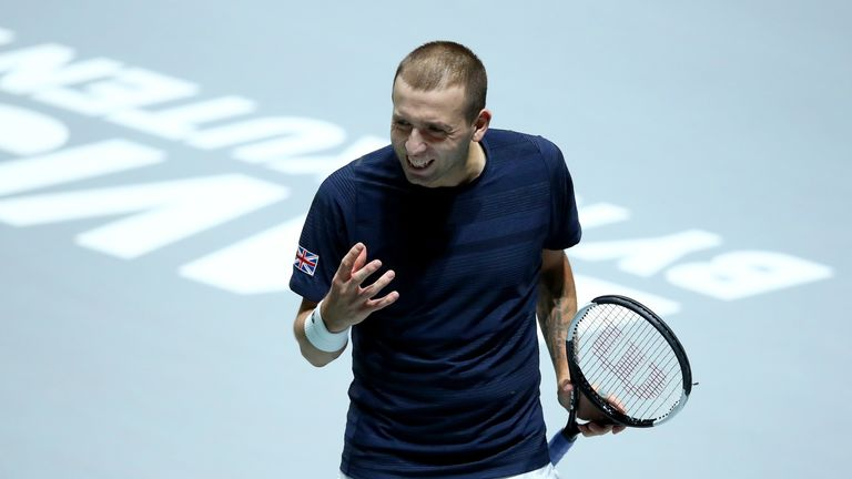 Dan Evans lost to Robin Haase in the second singles match to send the contest into a deciding doubles rubber