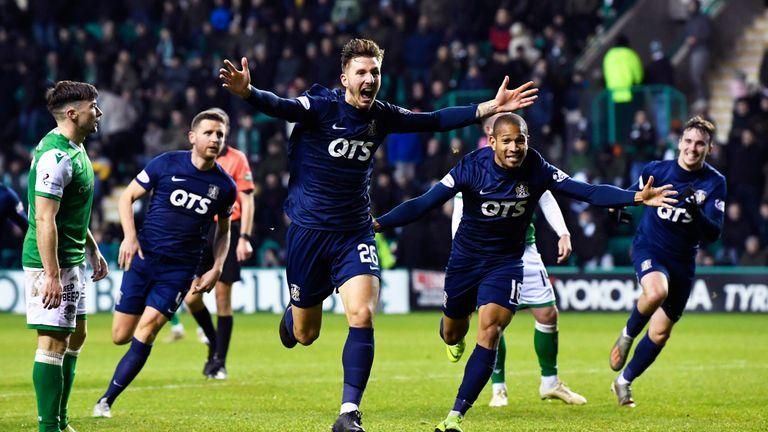 Dario Del Fabro celebrates after striking late for Kilmarnock