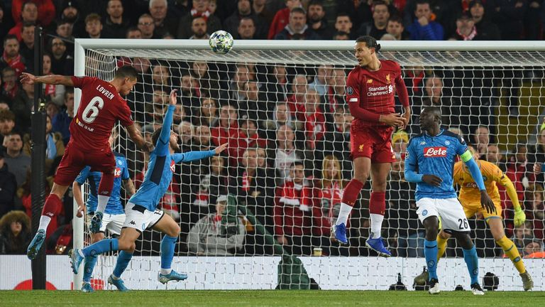 Lovren's goal earned Liverpool a draw against Napoli
