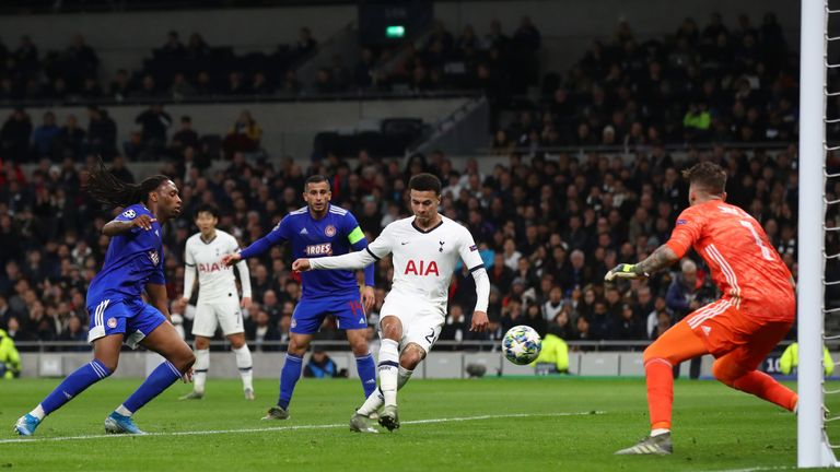 Dele Alli pulled a goal back for Spurs just before half-time