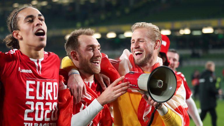 Denmark celebrate qualification for Euro 2020