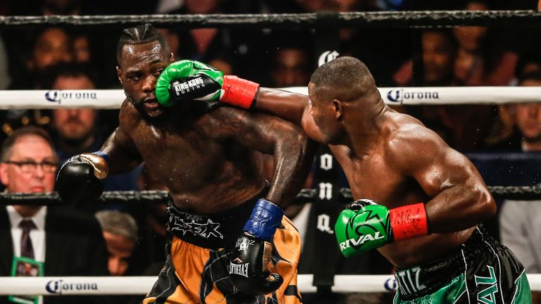 Wilder overcame a torrid time to eventually beat Ortiz in their first fight