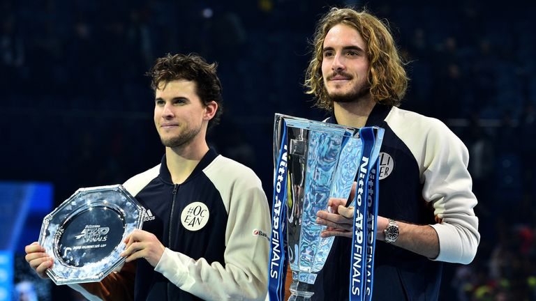 Tsitsipas came back from a set down to defeat Dominic Thiem in London