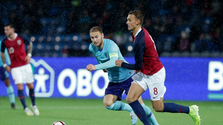 Emil Bohinen has nine caps and a goal for Norway's U21s