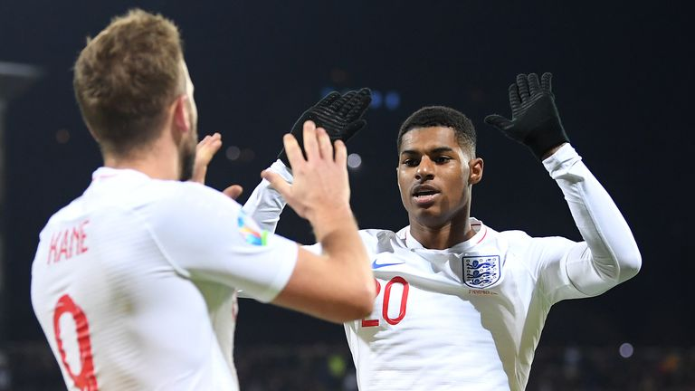 Marcus Rashford has scored 10 goals in 38 games for England