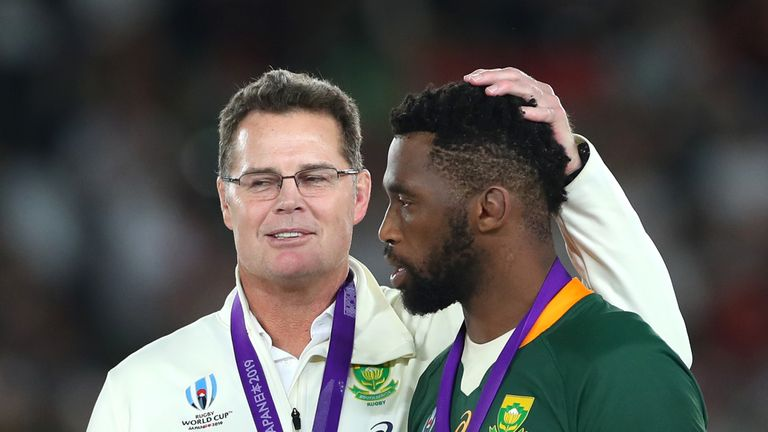 Rassie Erasmus promoted Siya Kolisi to the South Africa captaincy in June 2018 - the first black Springboks skipper in their 128-year history