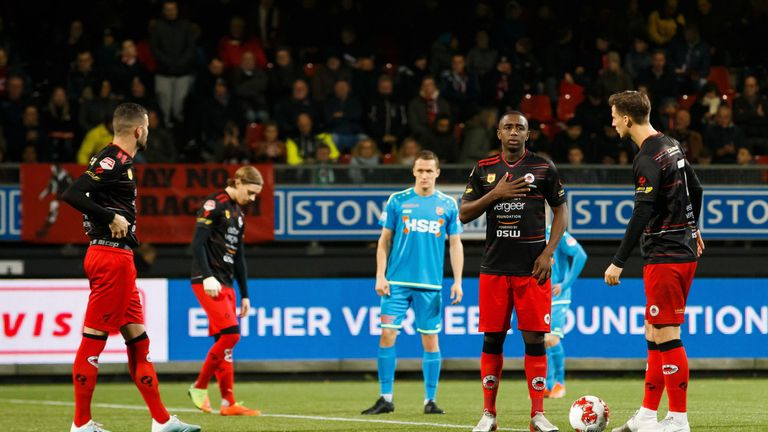 Excelsior protested against racism during their game against FC Volendam